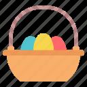 basket, easter, egg, paschal