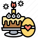 bakery, cake, easter, festival, food icon