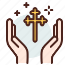 christianity, church, cross, hands, resurrection icon