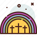 christianity, church, rainbow, resurrection icon