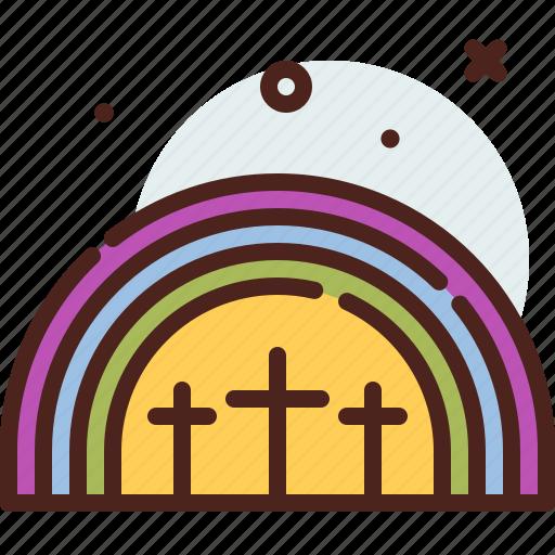 christianity, church, rainbow, resurrection icon