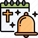 calendar, bell, easter, day, holiday, celebration
