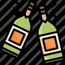 champagne, party, bottle, alcoholic, drinks, celebration, beverage