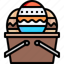easter, egg, celebration, basket, painting, decoration