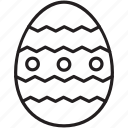 celebrate, decorate, dots, easter, egg, paint, stripes icon