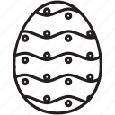 celebrate, decorate, dots, easter, egg, stripes icon
