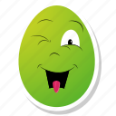 celebration, character, easter, egg, funny face icon