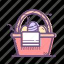basket, decoration, easter, easter egg