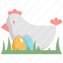 animal, chicken, day, decoration, easter, egg, holiday