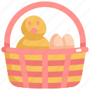 baskete, chicken, day, decoration, easter, egg, holiday