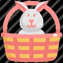 basket, day, decoration, easter, holiday, rabbit