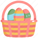basket, day, decoration, easter, eggs, holiday