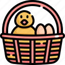 basket, chicken, day, easter, egg, eggs, holiday