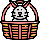 basket, bunny, day, decoration, easter, holiday, rabbit