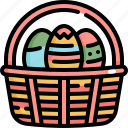 basket, day, decoration, easter, egg, eggs, holiday