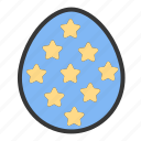 easter, egg, egg hunt, paint, stars icon