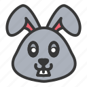 animal, bunny, cute, easter, face, rabbit icon