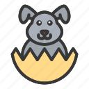 animal, bunny, cute, easter, egg, rabbit icon