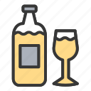 bottle, drink, easter, glass, party, wine icon