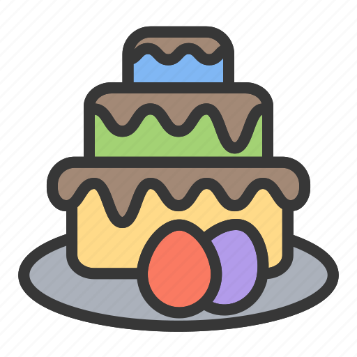 cake, dessert, easter, party icon
