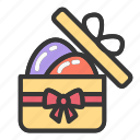 box, easter, egg, gift, package icon