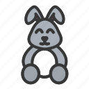 bunny, cute, doll, easter, rabbit icon