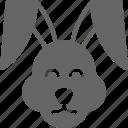 bunny, cony, easter, hare, rabbit icon
