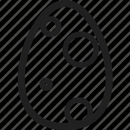 design, easter, easter egg, even, line icon