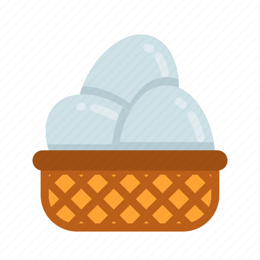 easter, egg, egg basket, happy easter, holidays, spring season, wicker icon