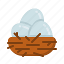 bird's nest, easter, egg, egg nest, happy easter, holidays, spring season icon