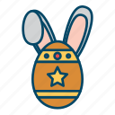 bunny, easter, easter egg, rabbit icon