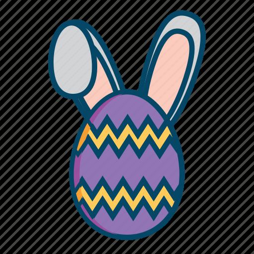bunny, easter, easter egg, rabbit icon