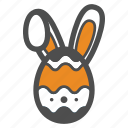 bunny, easter, egg, holiday, rabbit icon