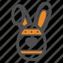 bunny, easter, egg, holiday, rabbit icon