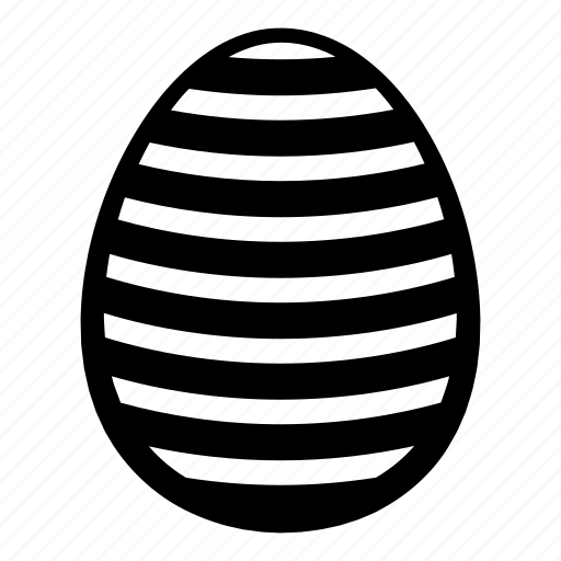 colored, decoration, easter, egg, holiday, hunt, lines icon