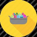 basket, breakfast, easter, eggs, eggs basket, eggs tray