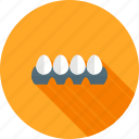 breakfast, egg, eggs tray, food, hen, tray icon
