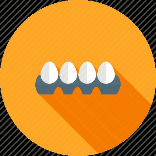 breakfast, egg, eggs tray, food, hen, tray icon