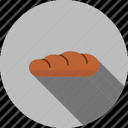 baked, bakery, bread, breakfast, food, slice, sliced icon