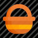 basket, buy, easter, easter basket, spring icon