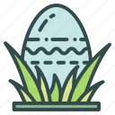 easter, egg, grass, hunt icon