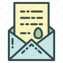 card, easter, letter, mail icon