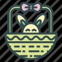 basket, bunny, easter, rabbit icon