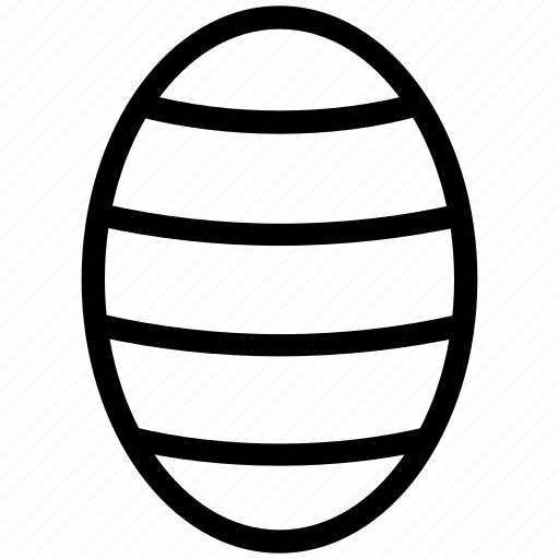decorated egg, decoration, easter, easter day, egg, egg with lines icon