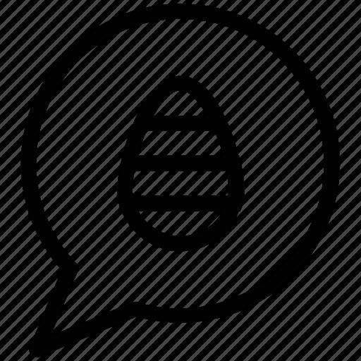bubble, chat, comments, easter, egg on bubble, festival icon