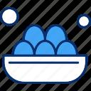 basket, easter, eggs