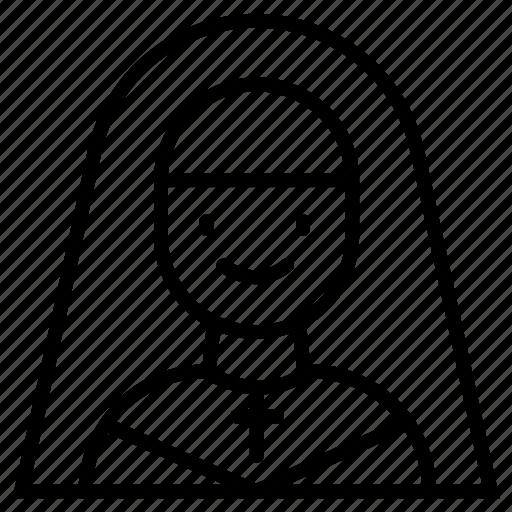 Christian, catholic, religious, woman icon - Download on Iconfinder