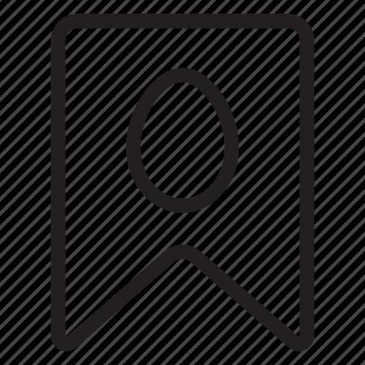 bookmark, favorite, ribbon, tag icon