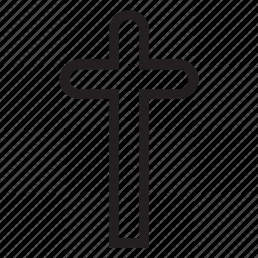 cemetery, cross, grave, haloween icon