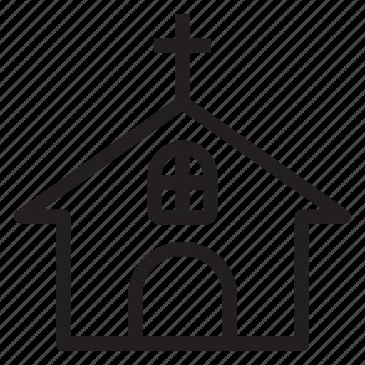building, catholic, church, religion icon